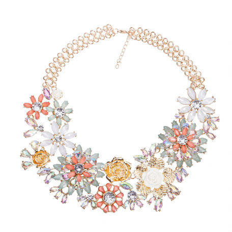 Dames Strass Ketting - T 4007