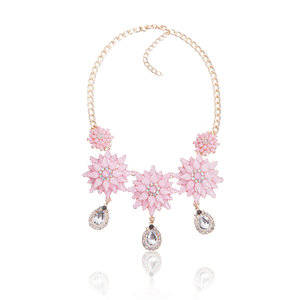 Dames Strass Ketting - T 4008