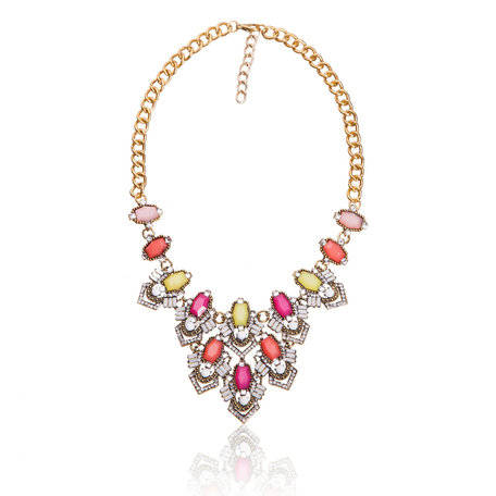 Dames Strass Ketting - T 4009