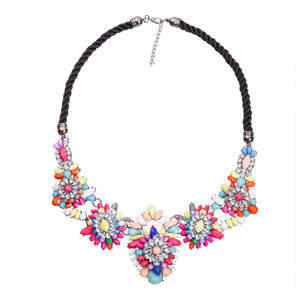 Dames Strass Ketting - T 4010