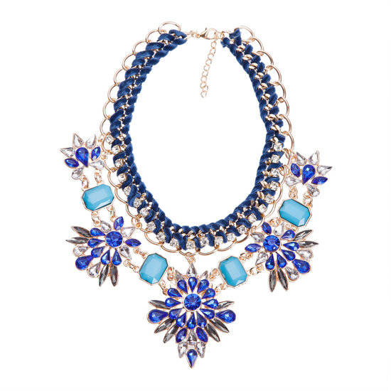 Dames Strass Ketting - T 4013
