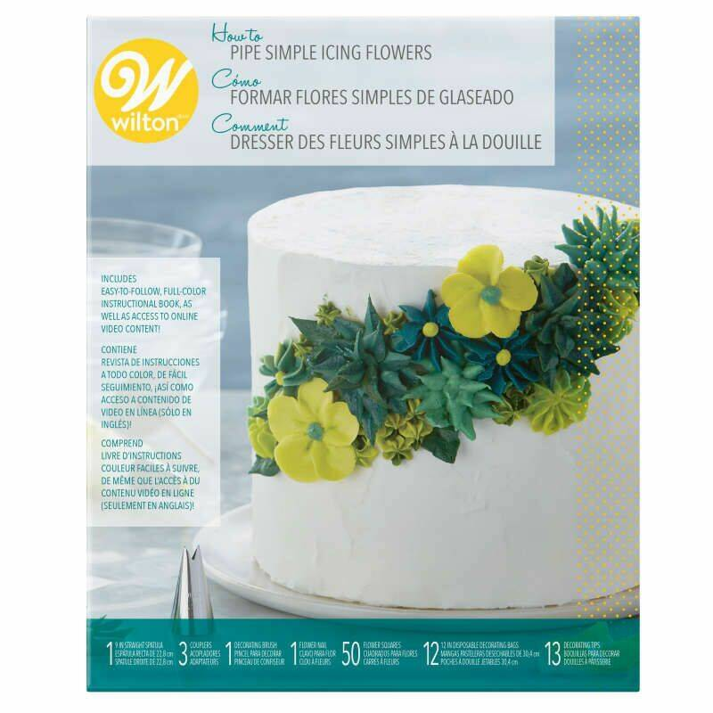 Wilton How To Pipe Simple Icing Flowers Kit