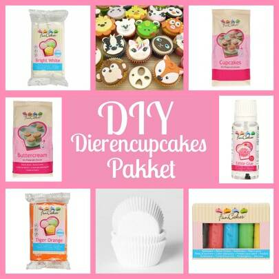 Do It Yourself Dierencupcakes Pakket
