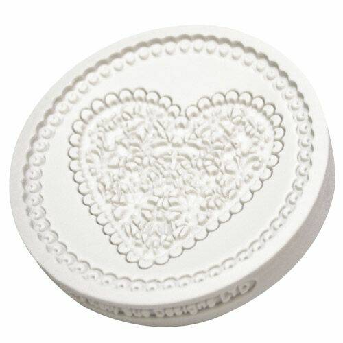 Katy Sue Mold Lace Heart