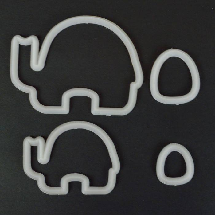 FMM Mummy and Baby Elephant Cutter Set