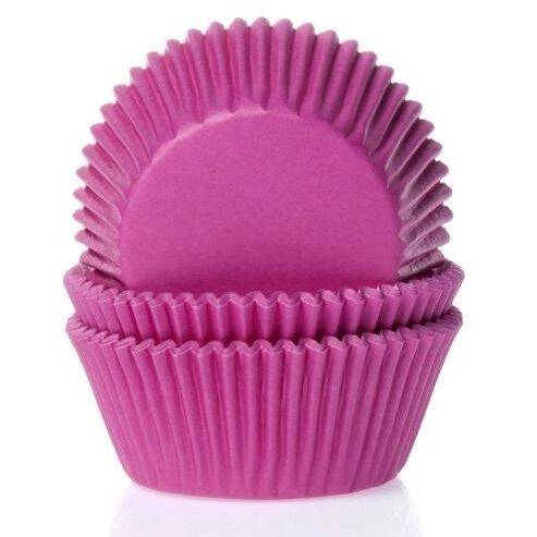 Baking Cups Mini Fuchsia Roze
