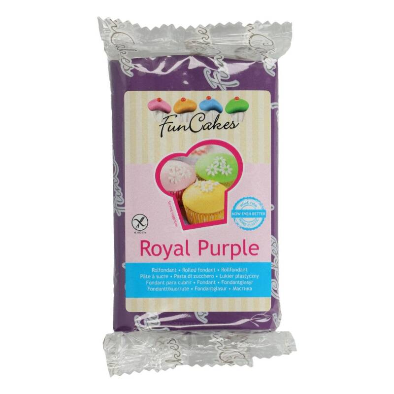 Funcakes Fondant Royal Purple 250 Gram