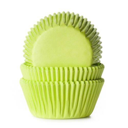 House of Marie Baking Cups Lime Groen