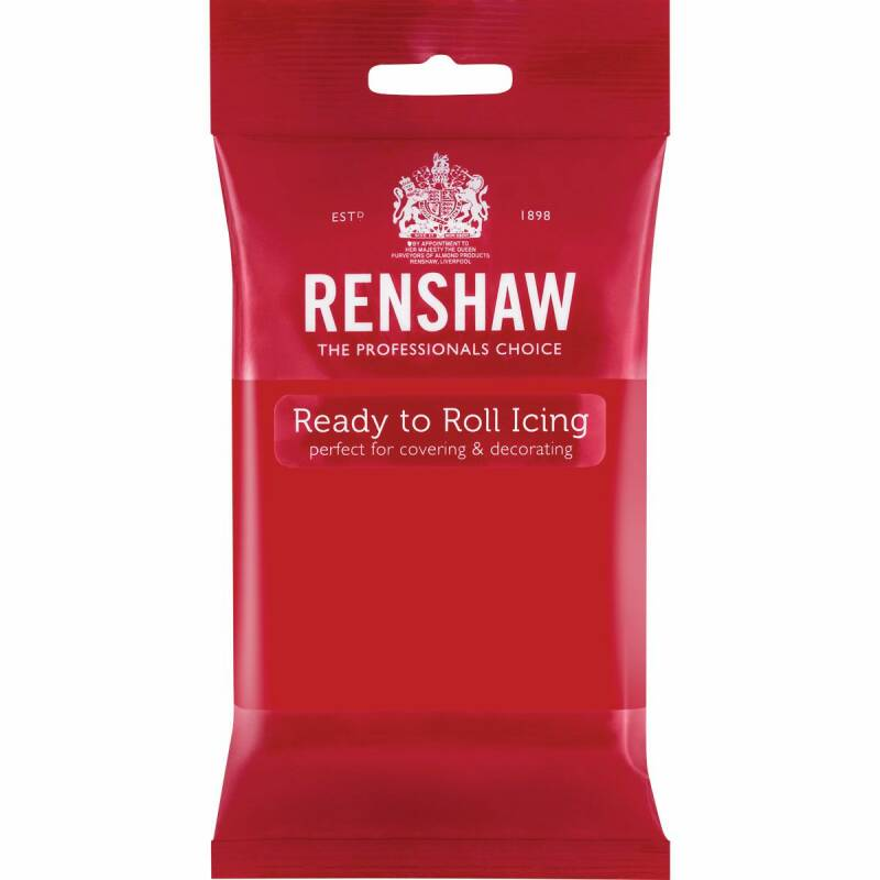 Renshaw Fondant Poppy Red 250 Gram