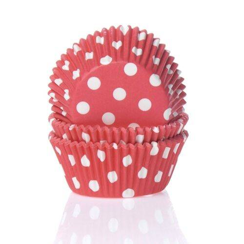 Baking Cups Rood Stip