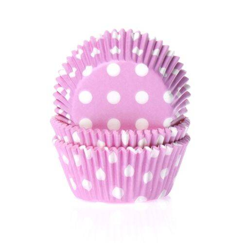 Baking Cups Roze Stip