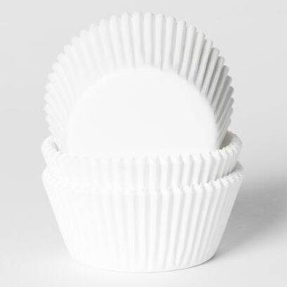 Baking Cups Mini Wit