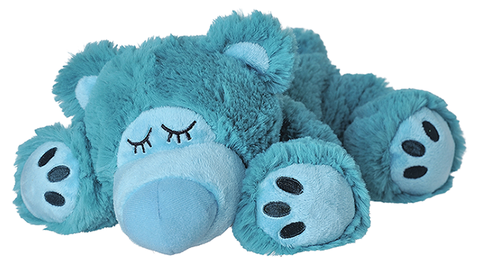 Magnetronknuffel Warmies® Sleepy Bear Turquoise
