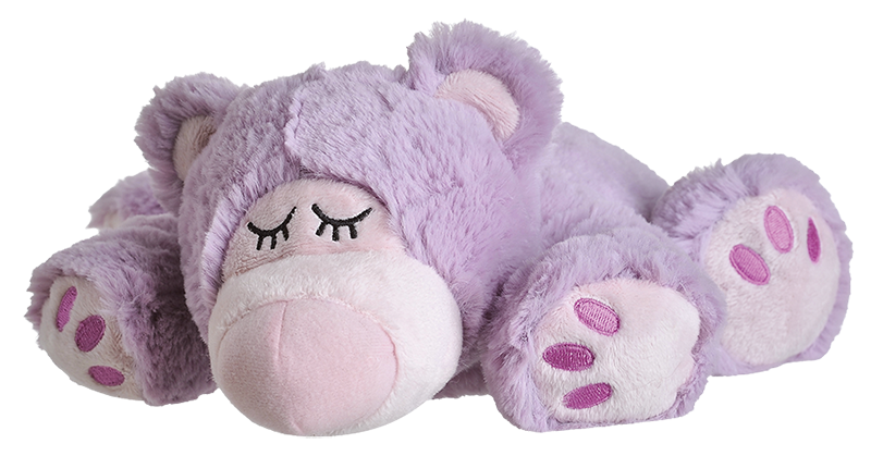 Magnetronknuffel Warmies® sleepy bear lila