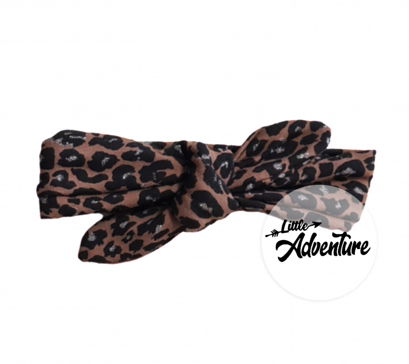 Haarband Leopard Chocolate