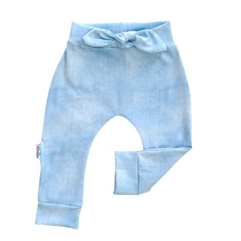 Broekje Strik Jeans Look Light Blue