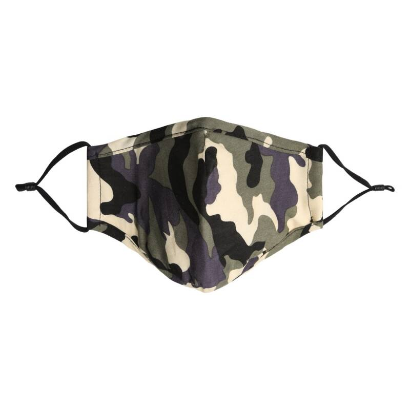 Face mask - camouflage groen