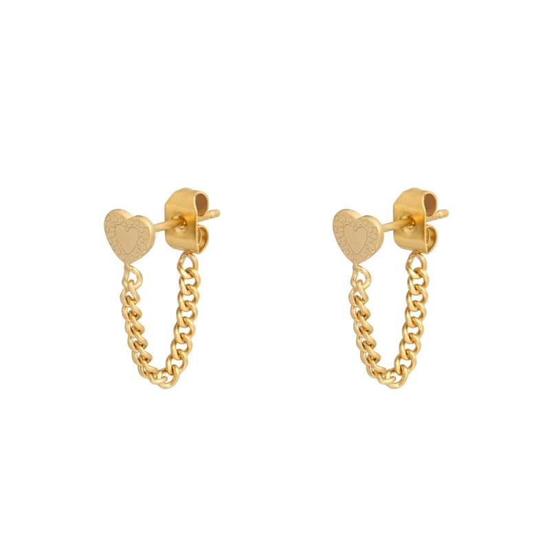 Heart and chain - goud