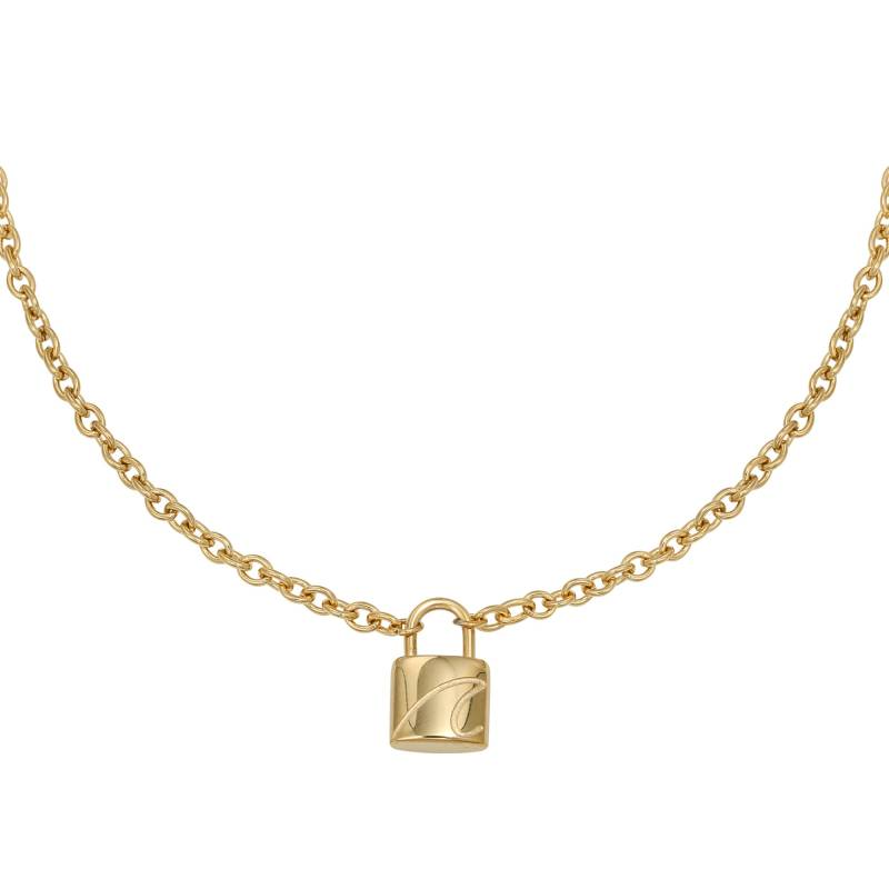 Special lock necklace - goud