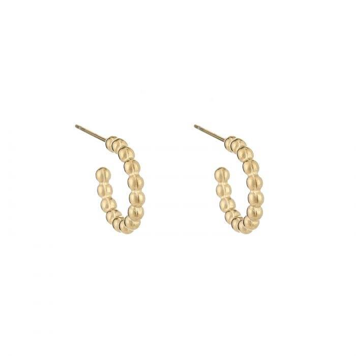 Dot earrings - goud