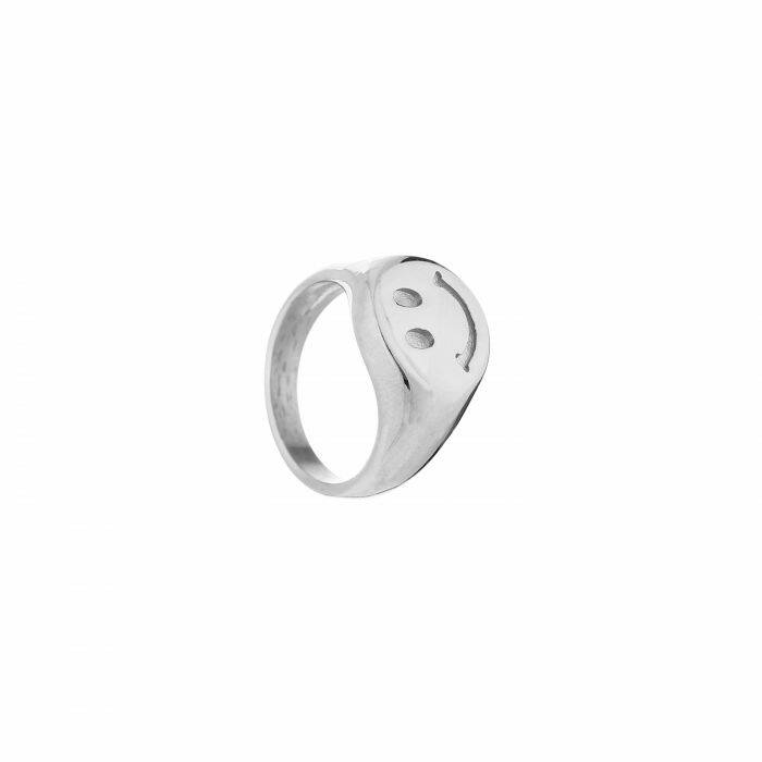 Smiley ring - zilver