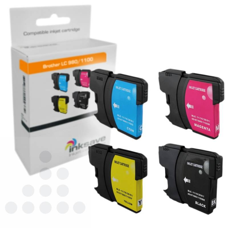 Inksave Brother LC 980/1100 Multipack