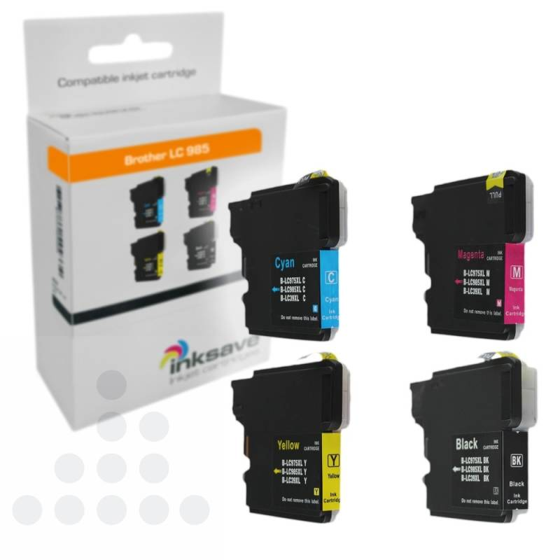 Inksave Brother LC 985 Multipack