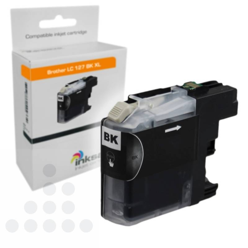 Inksave Brother LC 127 BK XL