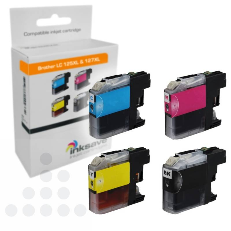 Inksave Brother LC 125 XL & LC 127 XL Multipack