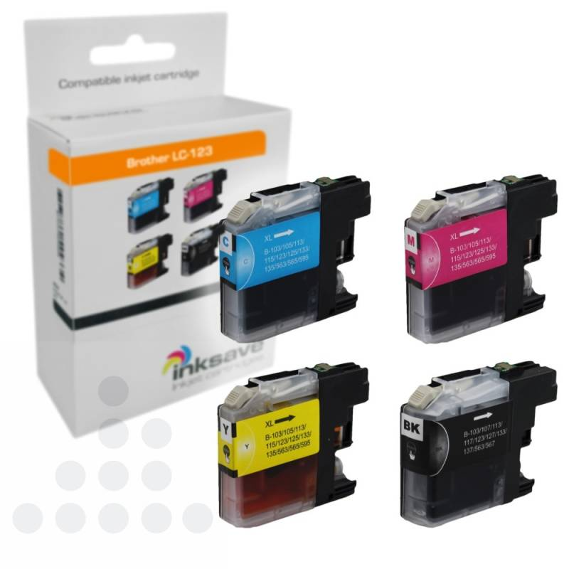 Inksave Brother LC-123 Multipack