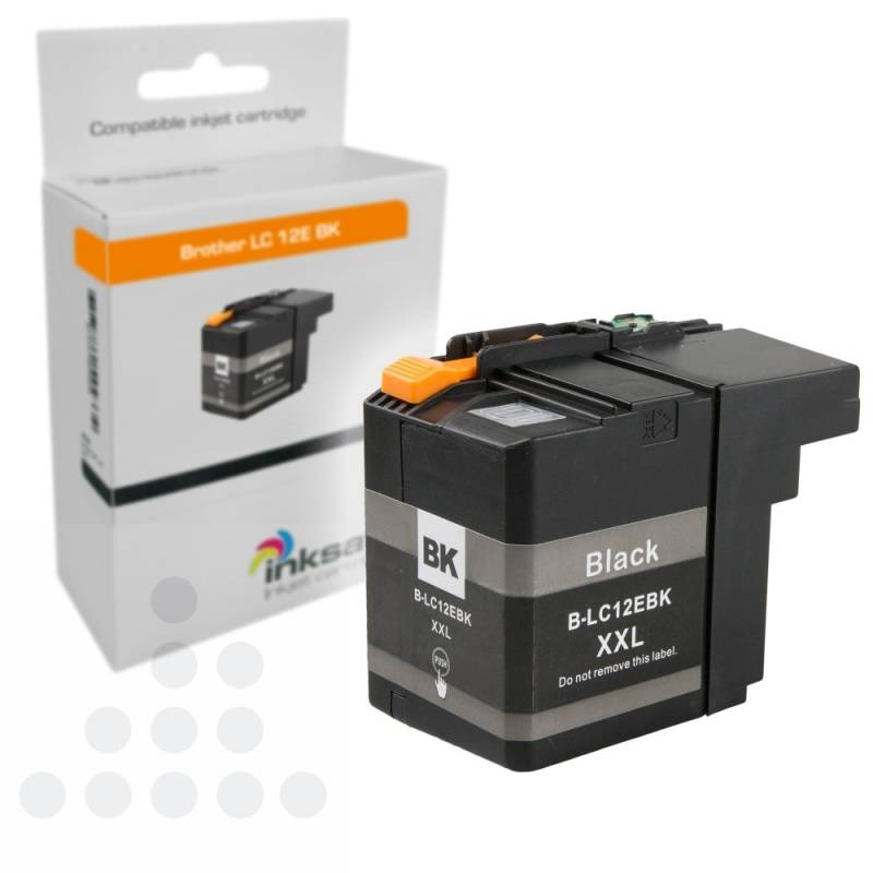 Inksave Brother LC 12E BK XXL