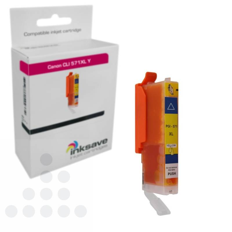 Inksave Canon CLI 571 Y XL