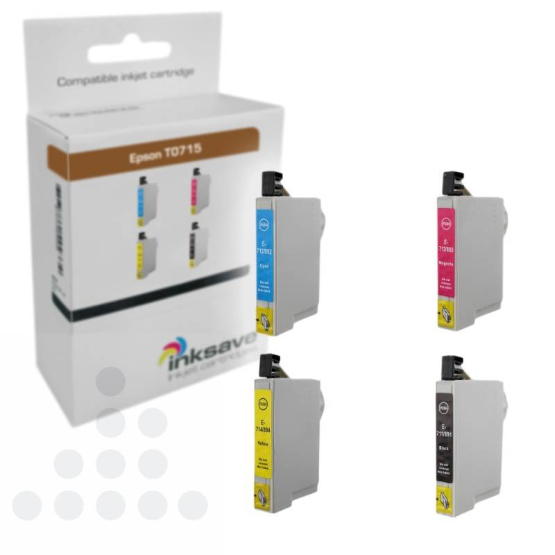 Inksave Epson T0715 Multipack