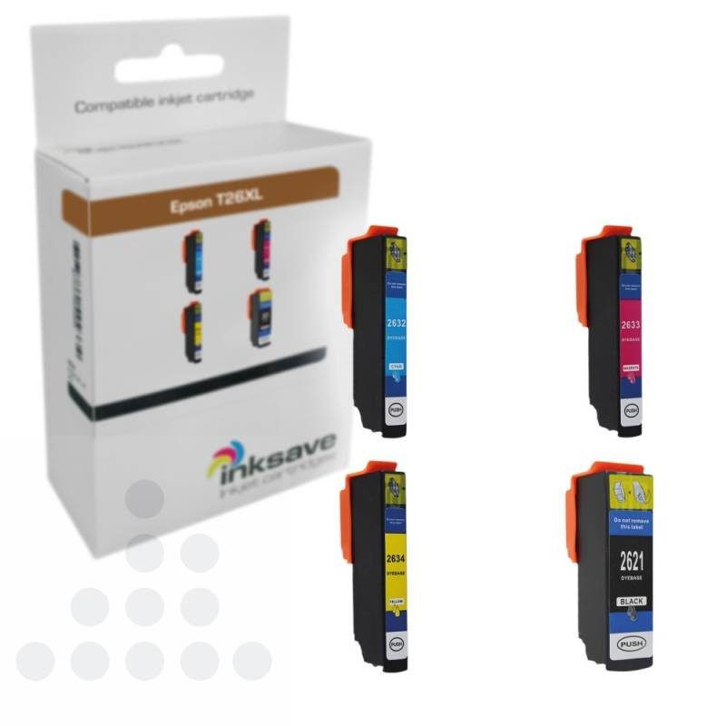 Inksave Epson T26 XL Multipack