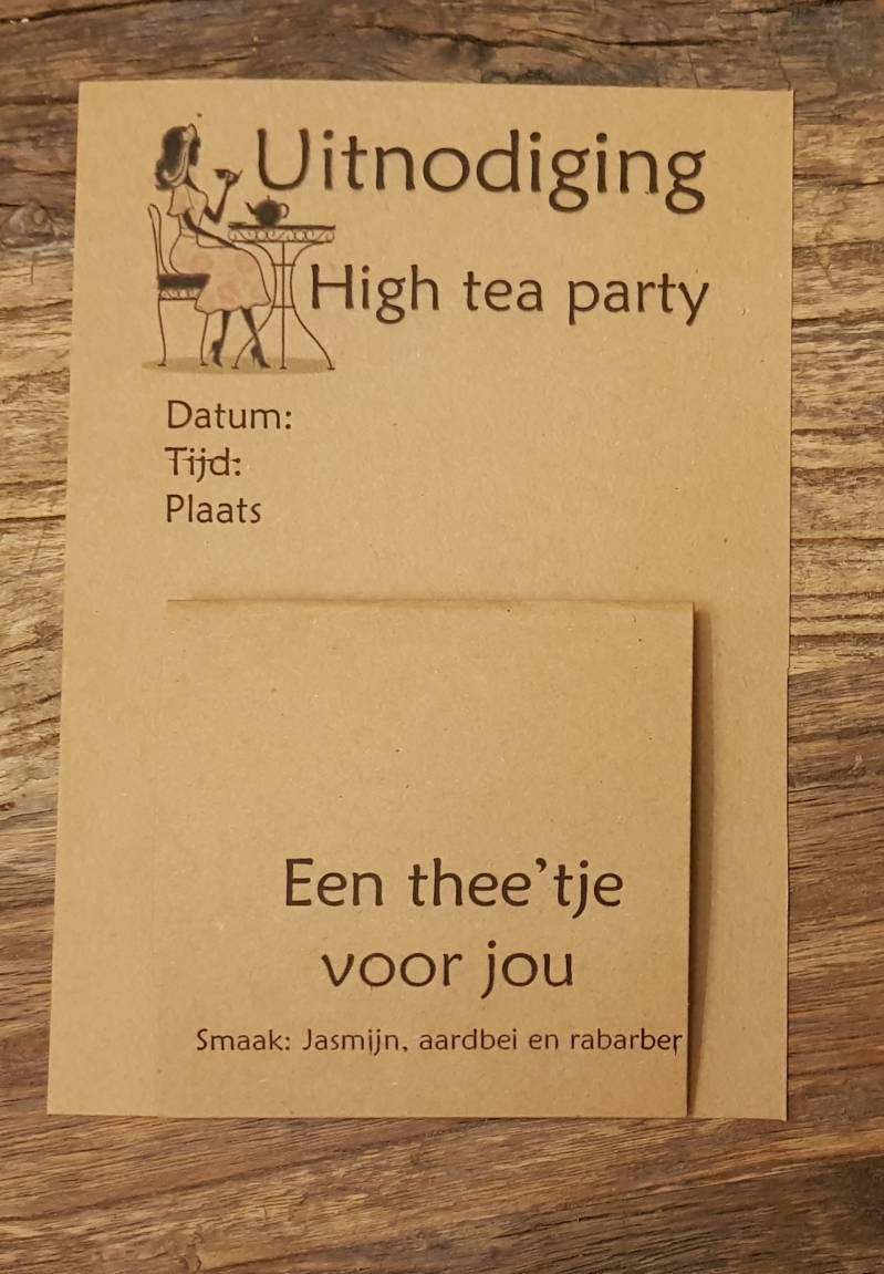 Uitnodiging 2001 high tea