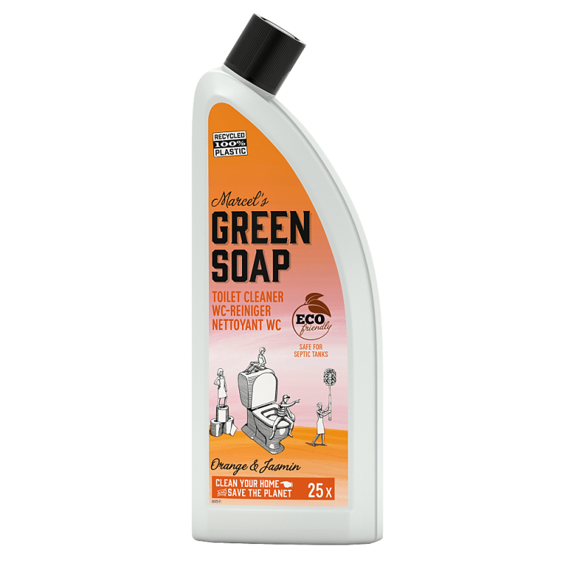 Marcel's green soap toiletreiniger 750 ml sinaasappel & jasmijn