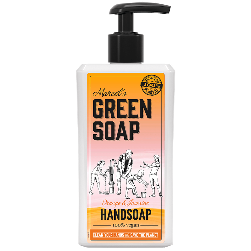 Marcel's green soap - handzeep  500 ml - Sinaasappel & Jasmijn