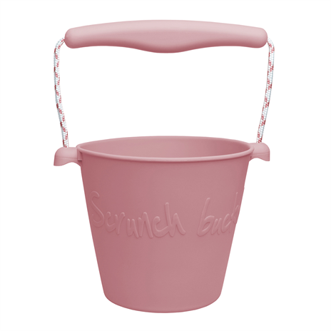 Scrunch bucket - opvouwbare strandemmer - dusty rose