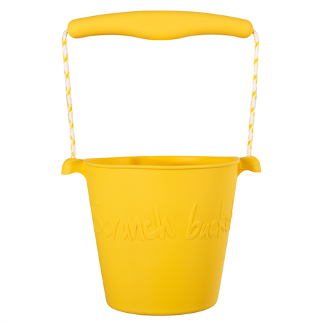 Scrunch bucket - opvouwbare strandemmer - buttercup yellow