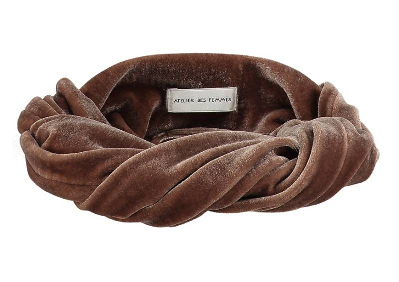 Mini Bandeau Emelie | Brown velvet | Pre-order now!