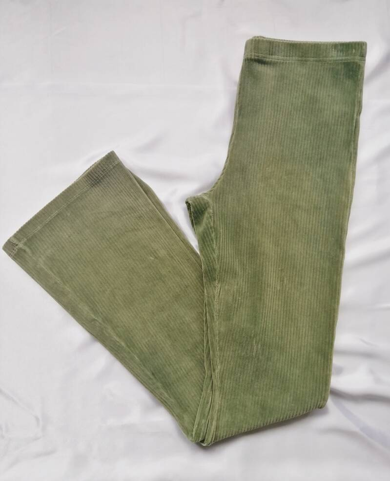 Ripped Flared Pants - Green