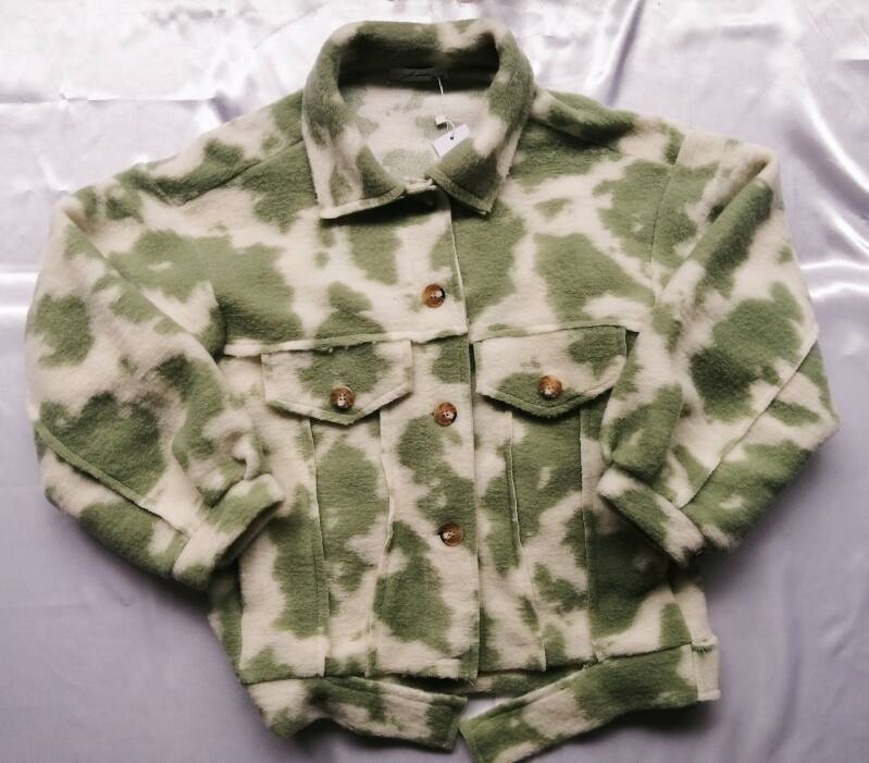 Cow Print Jacket - Green