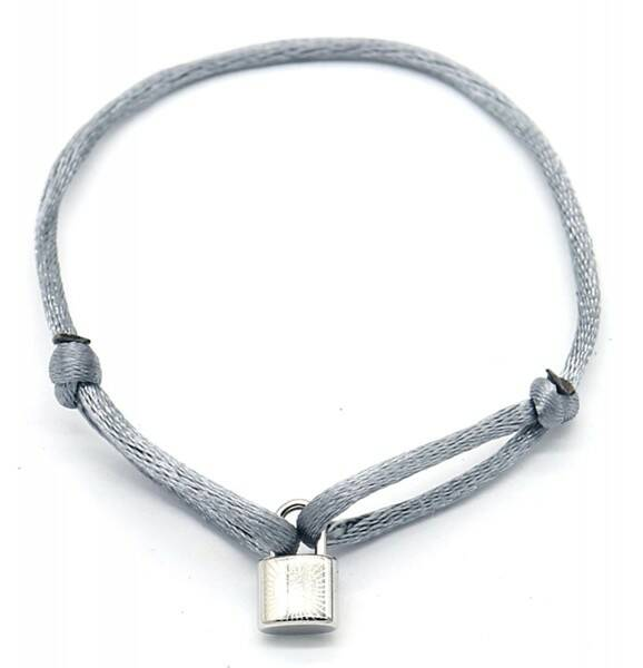 Bracelet Satin Lock Grey