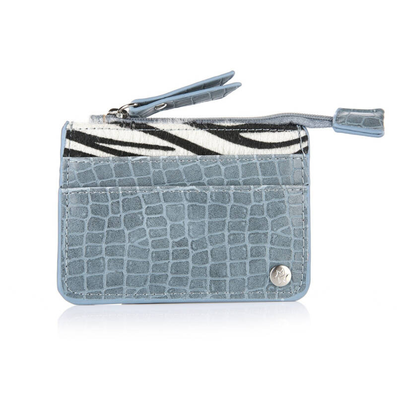 Card Holder Zebra Blue