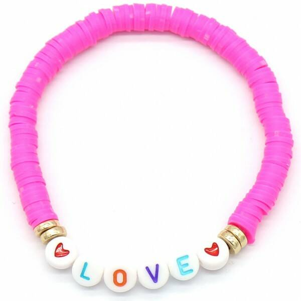 Love Surff Bracelet Pink