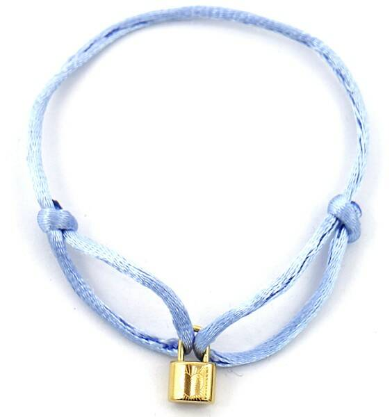 Bracelet Satin Lock Baby Blue
