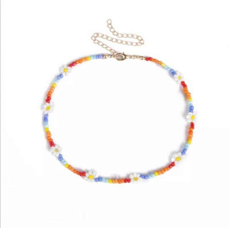 Rainbow Flower - Necklace