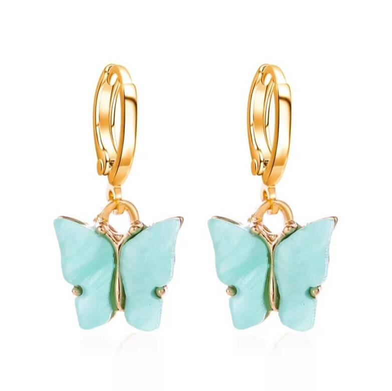Earrings Butterfly Blue