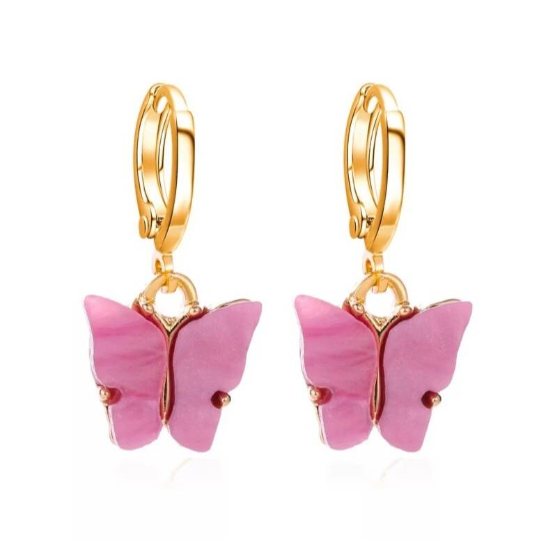 Earrings Butterfly Purple