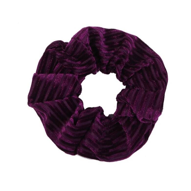 Scrunchie Velvet Dark Purple